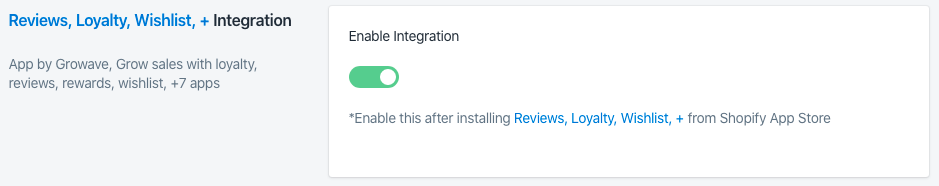 Sparq and Growave Review integration