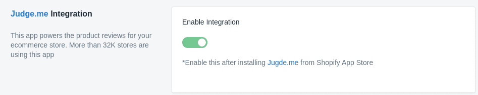 Sparq and Judge.me integration