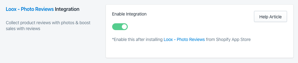 Sparq and Loox Review integration